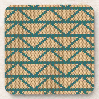 Ethnic Style Knitted Pattern Coaster