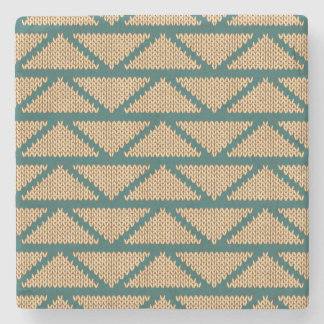 Ethnic Style Knitted Pattern Stone Beverage Coaster