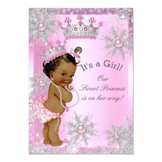 Ethnic Sweet Princess Baby Shower Wonderland Pink 13 Cm X 18 Cm Invitation Card
