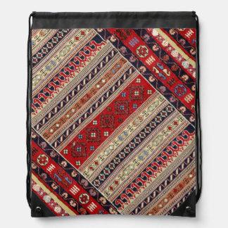 Ethnic Tapestry Print Drawstring Bags