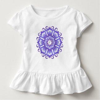 Ethnic teal mandala. monogram. toddler T-Shirt
