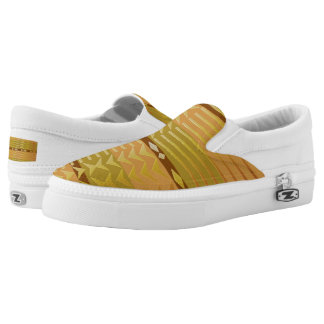 ethnic tribal african golden pattern. Slip-On shoes