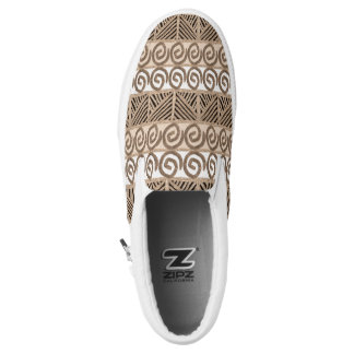 ethnic tribal african hand-drawn pattern. Slip-On shoes
