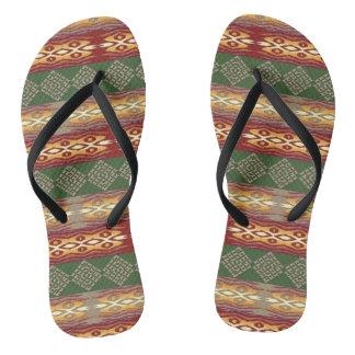 ethnic tribal african pattern flip flops