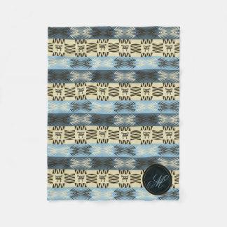 ethnic tribal african pattern.monogram. fleece blanket