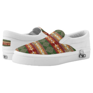 ethnic tribal african pattern Slip-On shoes