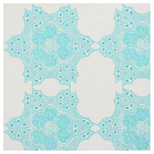 Ethnic turquoise design fabric