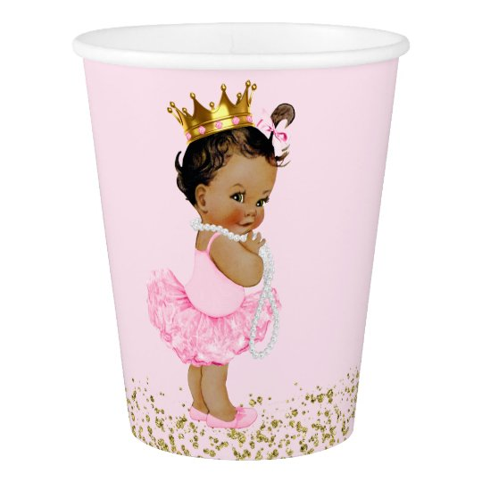 Ethnic Tutu Princess Pink Gold Baby Shower Paper