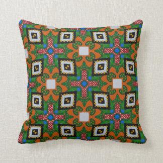 Ethno 90s pattern throw pillow