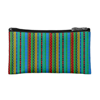 Ethno stripes cosmetic bags