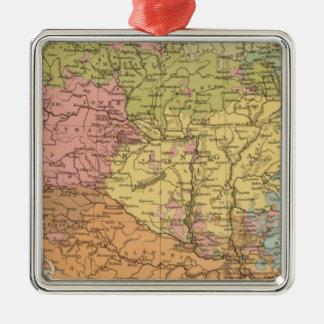 Ethnog Austria Hungary Silver-Colored Square Decoration