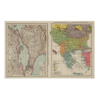 Ethnog Balkan Peninsula, Constantinople Poster