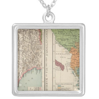 Ethnog Balkan Peninsula, Constantinople Silver Plated Necklace