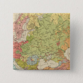 Ethnographic Europe 15 Cm Square Badge