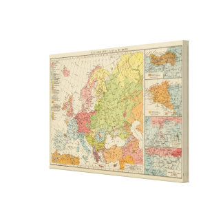 Ethnographic Europe Canvas Print