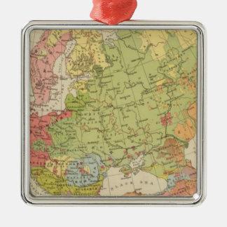 Ethnographic Europe Silver-Colored Square Decoration