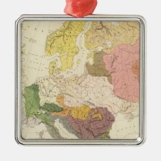 Ethnographic, Europe Silver-Colored Square Decoration