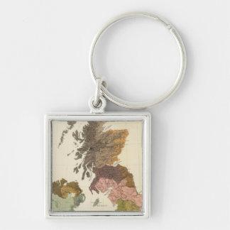 Ethnographic, Gt Brit, Ireland Key Ring