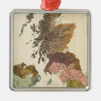 Ethnographic, Gt Brit, Ireland Silver-Colored Square Decoration