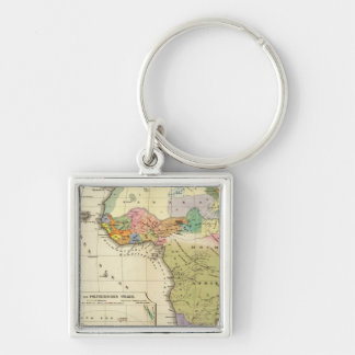 Ethnographic Map of Africa Keychains