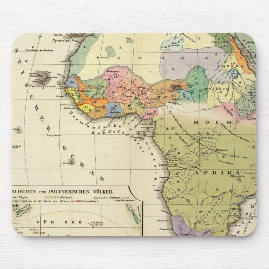 Ethnographic Map of Africa Mouse Mat