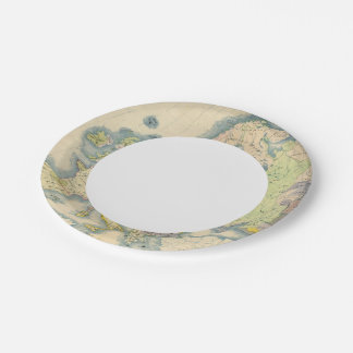 Ethnographic map of Europe 7 Inch Paper Plate