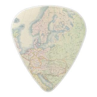 Ethnographic map of Europe Acetal Guitar Pick