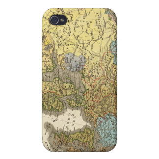 ethnographic map of Europe iPhone 4 Cases