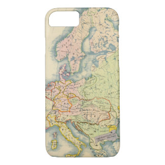 Ethnographic map of Europe iPhone 8/7 Case