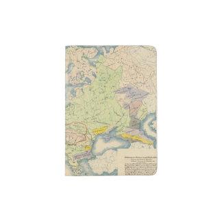 Ethnographic map of Europe Passport Holder