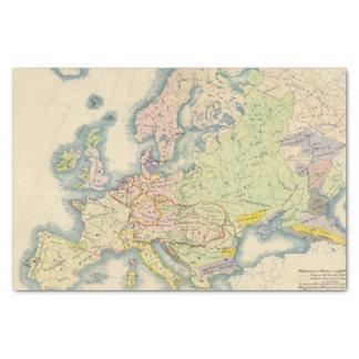 Ethnographic map of Europe Tissue Paper