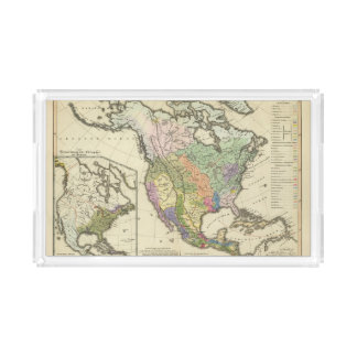 Ethnographic Map of North America Acrylic Tray