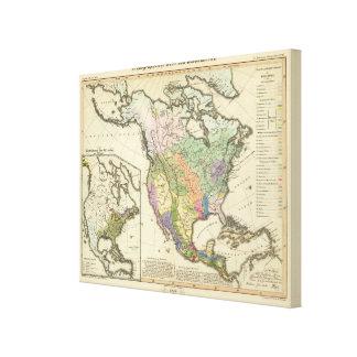 Ethnographic Map of North America Canvas Prints
