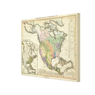 Ethnographic Map of North America Canvas Print