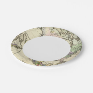 Ethnographic Map of North America Paper Plate