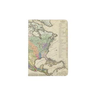 Ethnographic Map of North America Passport Holder