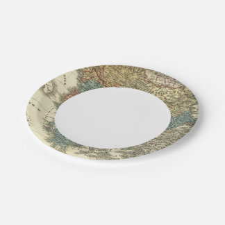 Ethnographic Map of Ottoman Empire Paper Plate