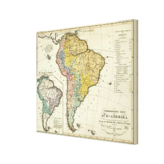 Ethnographic Map of South America Canvas Print