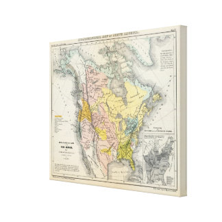 Ethnographs of North America Gallery Wrap Canvas