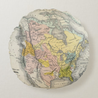 Ethnographs of North America Round Cushion