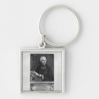Etienne Bonnot de Condillac Silver-Colored Square Key Ring