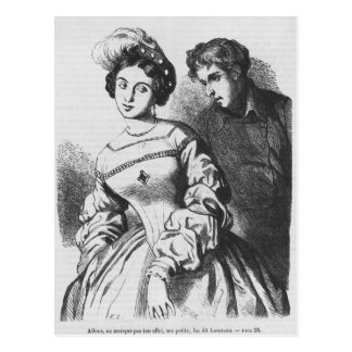 Etienne Lousteau speaking to an actress Postcard