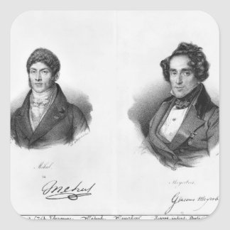 Etienne Mehul  and Giacomo Meyerbeer Square Sticker