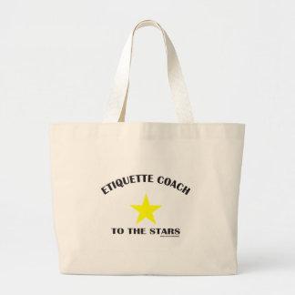 ETIQUETTE COACH TO THE STARS CANVAS BAGS