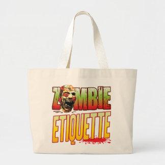 Etiquette Zombie Head Canvas Bag