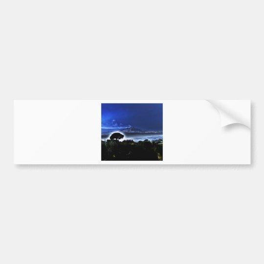 Etna's evening mist bumper sticker