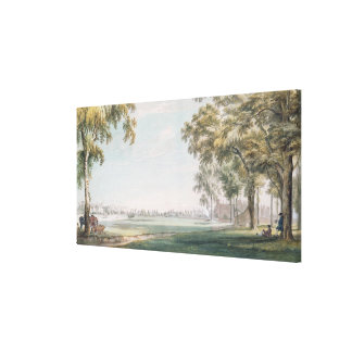 Eton College and Windsor from the Playing Fields Canvas Print