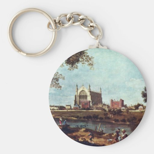 Eton College By Canaletto Key Chains
