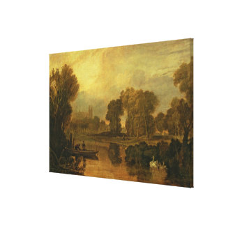 Eton College from the River, or The Thames at Canvas Print