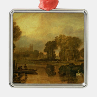 Eton College from the River, or The Thames at Christmas Ornament
